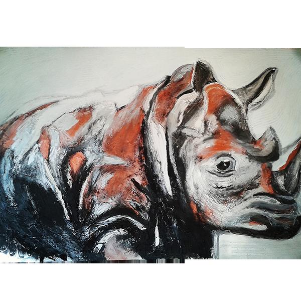 Tableau Métal «Le Rhino»
