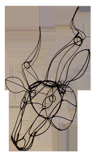Trophée «Kudu Fil D'acier Léger»
